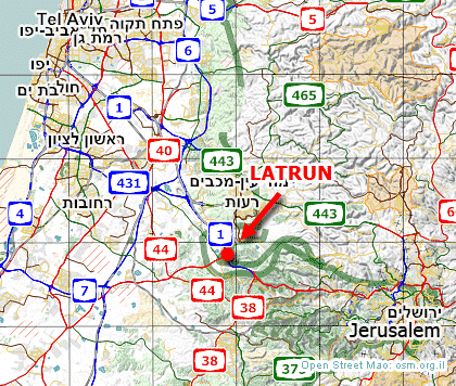 latrun israel map