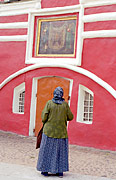 Пред иконой  в Печорском монастыре